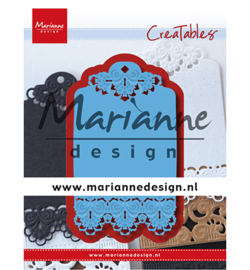 LR0616 Marianne Design Cutting & embossing Brocante label