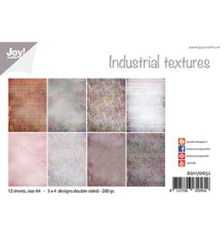 6011/0652 Papierset Design Industrieel texturen