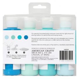 348500 American Crafts Color Pour pouring paint kit tidal