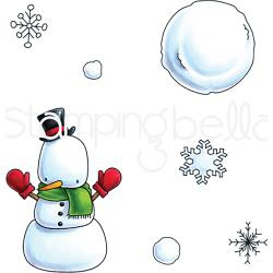 256859 Stamping Bella Cling Stamps Snowman Set