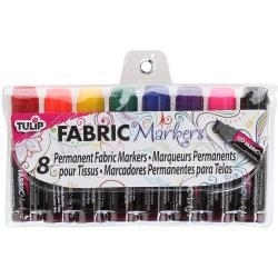 133929 Tulip Mini Fat Fabric Markers Assorted 8/Pkg