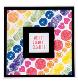 CS1073 Marianne Design Clear Stamps Colorfull Silhouettes Needle work