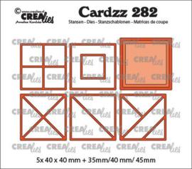 CLCZ282 Crealies Cardzz Elements Vierkanten