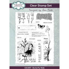 CEC957 Creative Expressions Clear stamp set Vlinder wandeling