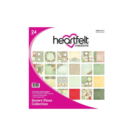 "HCDP1-2117 Heartfelt Creations Double-Sided Paper Pad Snowy Pine12""X12"" 24/Pkg"