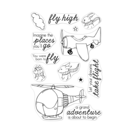 "573171 Hero Arts Clear Stamps 4""X6"" Fly High Animals"