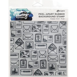 """HUR67 75516 Simon Hurley create. Cling Stamps  Happy Mail 6""""X6"""""""