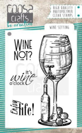 COC-063  COOSA Crafts clearstamps A7 Wine setting