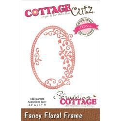 "423134 CottageCutz Elites Die Fancy Floral Frame, 2.2""X3.1"""