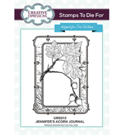 UMS815 To Die For Stamp Jennifer's Acorn Journal