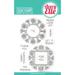 "541772 Avery Elle Clear Stamp Set Snow Tags 4""X6"""