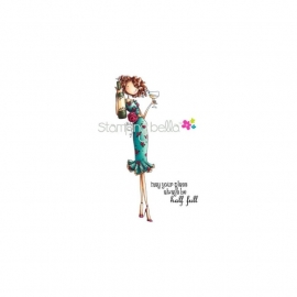 053603 Stamping Bella Cling Rubber Stamp Uptown Girl Opal The Optimist