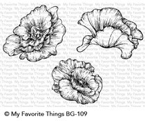 BG-109 My Favorite Things Poppy Blooms Cling Stamps