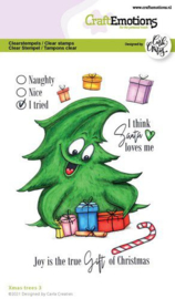 130501/1523 CraftEmotions clearstamps A6 - Xmas trees 3 (Eng) Carla Creaties