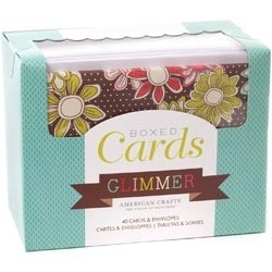 233898 Box Of Patterned Cards With Envelopes Glimmer