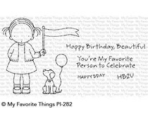 PI-282 My Favorite Things Pure Innocence Birthday Buddies Clear Stamps