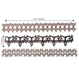 664413 Sizzix Thinlits Die Crochet #2 Tim Holtz 3pk