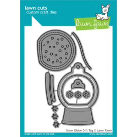 LF2056 Lawn Cuts Custom Craft Die Snow Globe Gift Tag