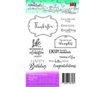 PD7700 Polkadoodles Perfect Wishes Clear Stamps