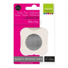 21450-004 Vaessen Creative magnetische pons cirkel met sierrand 38mm
