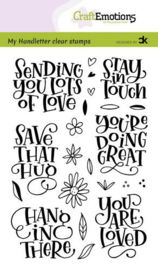 130501/2208 CraftEmotions clearstamps A6 - handletter - Sending you lots of love Carla Kamphuis