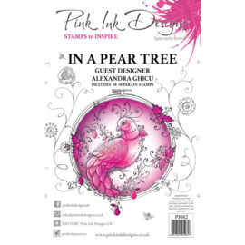 PI082 Creative Expressions Pink ink In a pear tree clear stamp