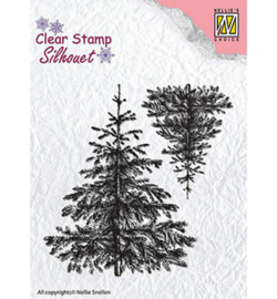 SIL038 Stempel Christmas fir-trees