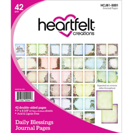 318313 HCJB1 5001 Heartfelt Creations Journal Pages Daily Blessings