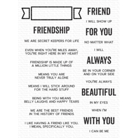 """CS543 My Favorite Things Clearly Sentimental Stamps What Friendship Means 6""""X8"""""""
