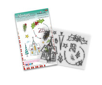 PD8084 Polkadoodles Holly Blessings Clear Stamps