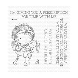 """RAM006 My Favorite Things Clear Stamps Care Of My Heart 4""""X4"""""""