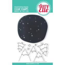 "541782 Avery Elle Clear Stamp Set Starry Scene 4""X6"""