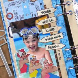 EC-CS192 Elizabeth Craft Clear Stamps Vacay Phrases