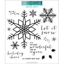 """549147 Concord & 9th Clear Stamps Snow Flurry 6""""X6"""""""