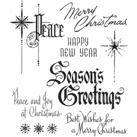 "CMS 389 Tim Holtz Cling Stamps Christmastime #2 7""X8.5"""