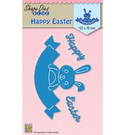 SDB033  Nellie's Choice Shape Dies Happy Easter