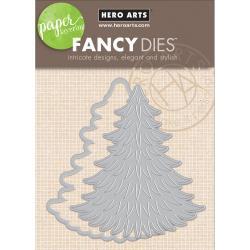 247747 Hero Arts Paper Layering Dies Pine Tree With Frame