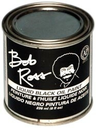 455979 Bob Ross Oil Paint Black