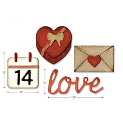662710 Sizzix Tim Holtz Thinlits with Text.Fades Love