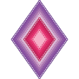 557957 Heartfelt Creations Cut & Emboss Dies Burst Of Spring-Eyelet Diamond