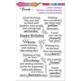 654033 Stampendous Perfectly Clear Stamps Birthday Smiles