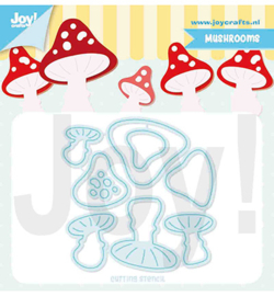 6002/1397 Joy!Crafts Cutting & embossing Champignons