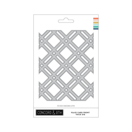 653261 Concord & 9th Dies Thick Plaid Card Front