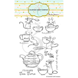 "651200 Colorado Craft Company Clear Stamps Tea Time Fun-By Anita Jeram 4""X6"""