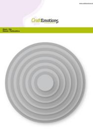 15633/0901 CraftEmotions Big Nesting Die - cirkels Card