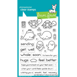 "LF1886 Lawn Fawn Clear Stamps Get Well Before 'n Afters 4""X6"""