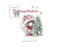 PD7961 Polkadoodles Winnie Christmas Tree Clear Stamps