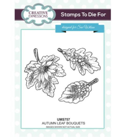 UMS757 Stamps To Die For Autumn Leaf Bouquets