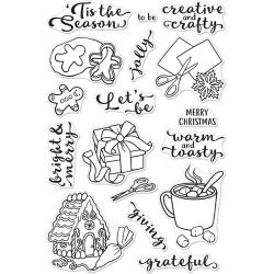 "557713 Hero Arts Clear Stamps In For The Holidays 4""X6"""
