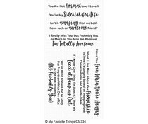CS-334 My Favorite Things Sassy Pants Best Friends Clear Stamps
